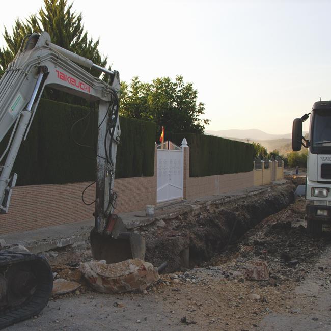 Creación de nueva red de saneamiento en Urbanización Marivela